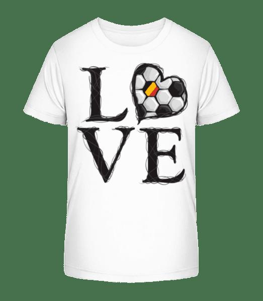 Football Love Belgium - Kid's Premium Bio T-Shirt - White - Vorn