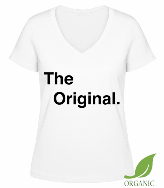 "The Original - ""Janet"" Organic V-Neck T-Shirt - White - Vorn"