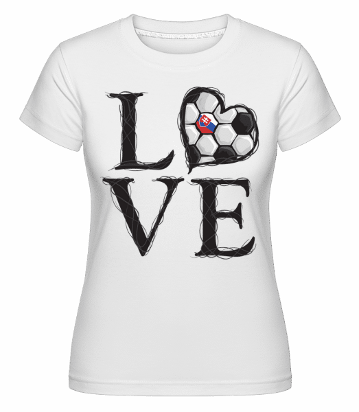 Football Love Slovakia -  Shirtinator Women's T-Shirt - White - Vorn
