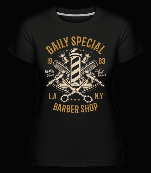 Daily Special Barber Shop -  Shirtinator Women's T-Shirt - Black - Vorn
