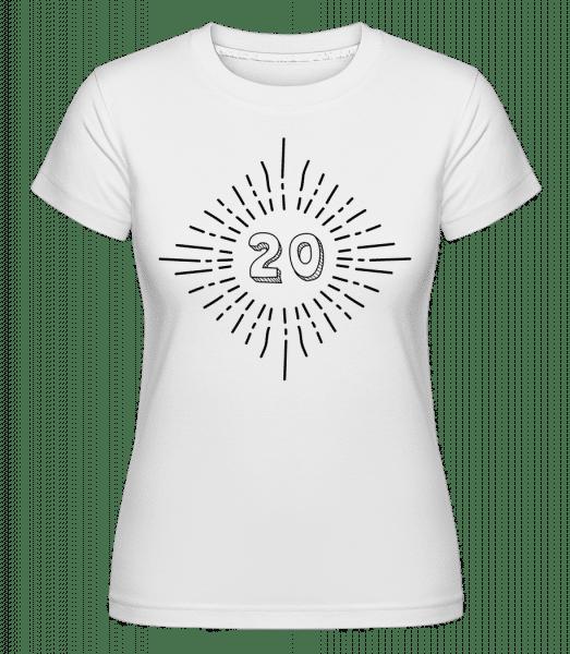 20 Birthday -  Shirtinator Women's T-Shirt - White - Vorn