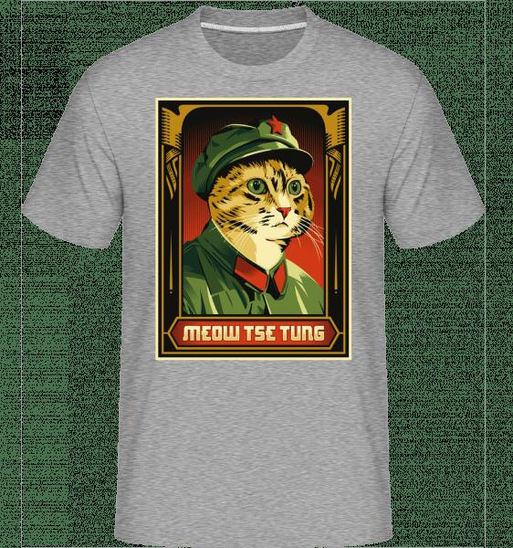 Meow Tse Tung -  Shirtinator Men's T-Shirt - Heather grey - Vorn