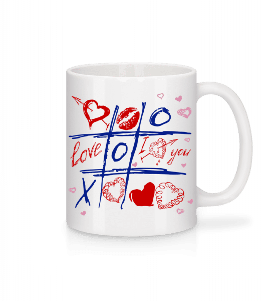 Love Raster Valentine - Mug - White - Vorn