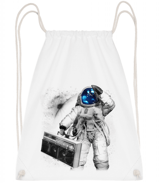 Ghettoblaster Astronaut - Drawstring Backpack - White - Vorn