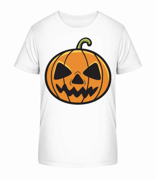 Halloween Pumpkin - Kid's Premium Bio T-Shirt - White - Front