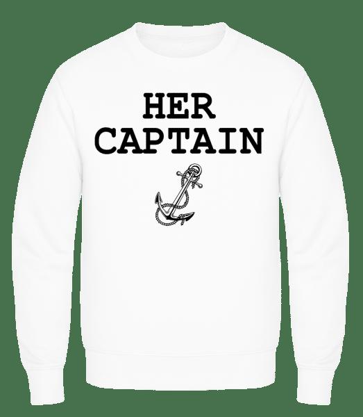 Her Captain - Men's Sweatshirt AWDis - White - Vorn