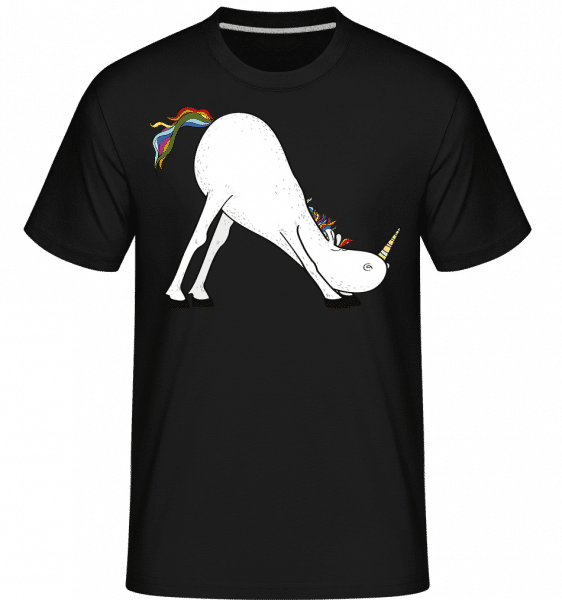 Yoga Unicorn The Slide -  Shirtinator Men's T-Shirt - Black - Vorn