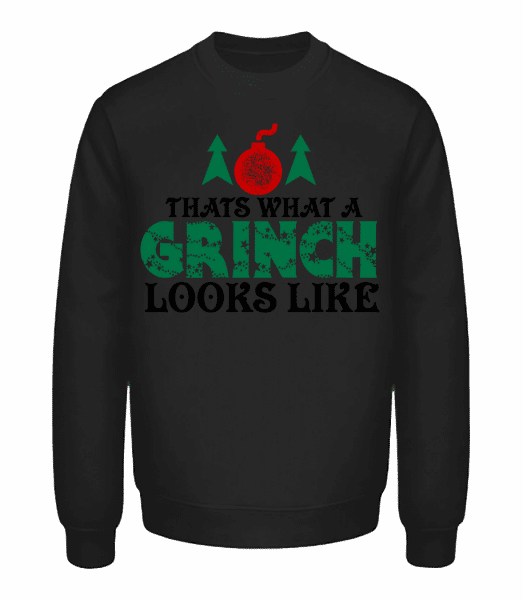 What A Grinch Looks Like - Unisex Sweatshirt - Black - Vorn