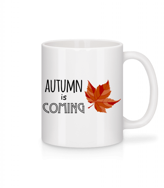 Autumn Is Coming - Mug en céramique blanc - Blanc - Devant