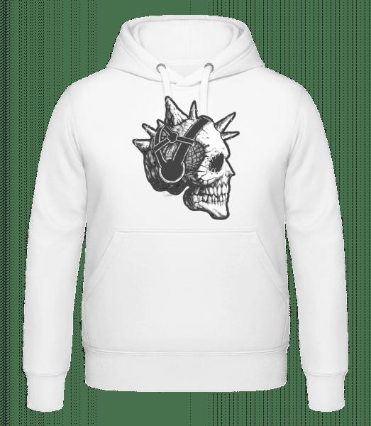 Punk Skull - Hoodie - White - Vorn