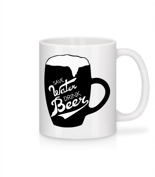 Save Water Drink Beer - Mug - White - Front