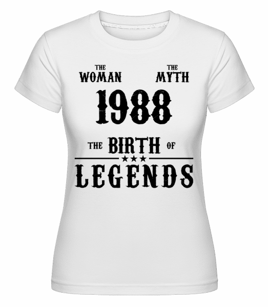 The Myth Woman 1988 -  Shirtinator Women's T-Shirt - White - Vorn