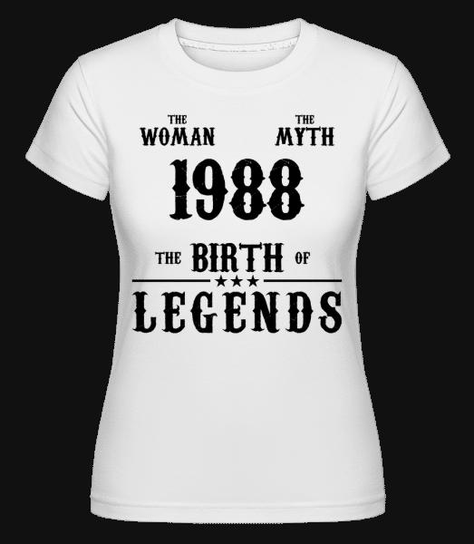 The Myth Woman 1988 -  T-shirt Shirtinator femme - Blanc - Devant