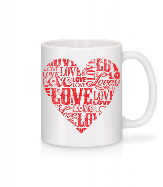 Love Heart Red - Mug - White - Vorn