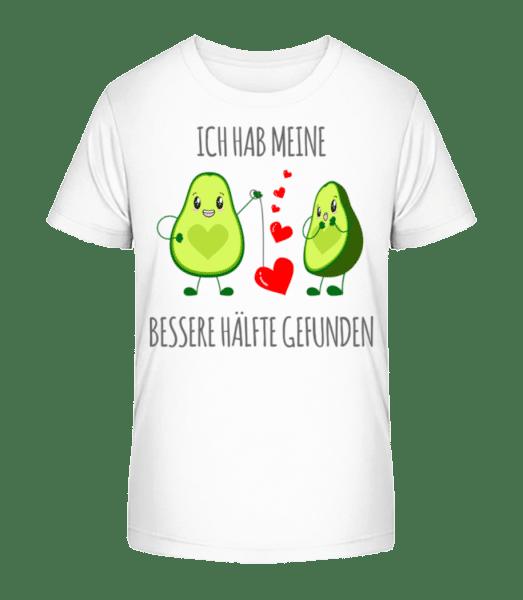 Avocado Love - Kinder Premium Bio T-Shirt - Weiß - Vorn