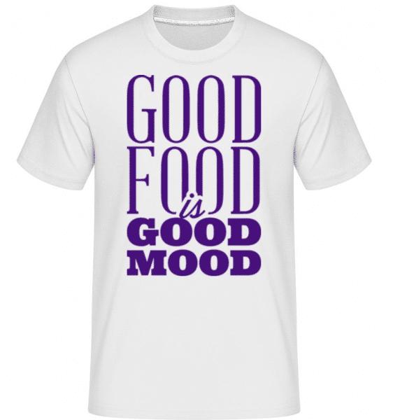 Good Food Is Good Mood -  Shirtinator Men's T-Shirt - White - Front