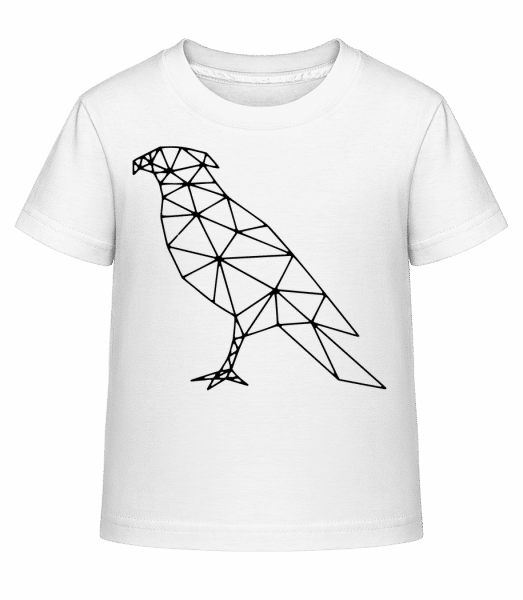 Polygon Hawk - Kid's Shirtinator T-Shirt - White - Vorn