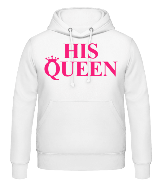 His Queen Pink - Men's Hoodie - White - Vorn