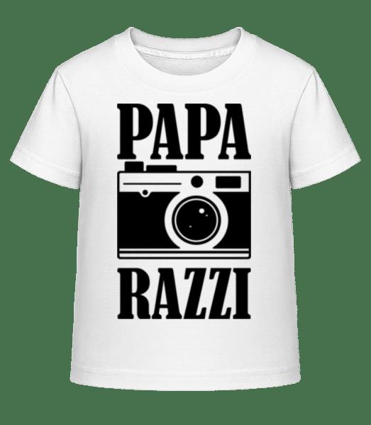 Papa Razzi - Kinder Shirtinator T-Shirt - Weiß - Vorn