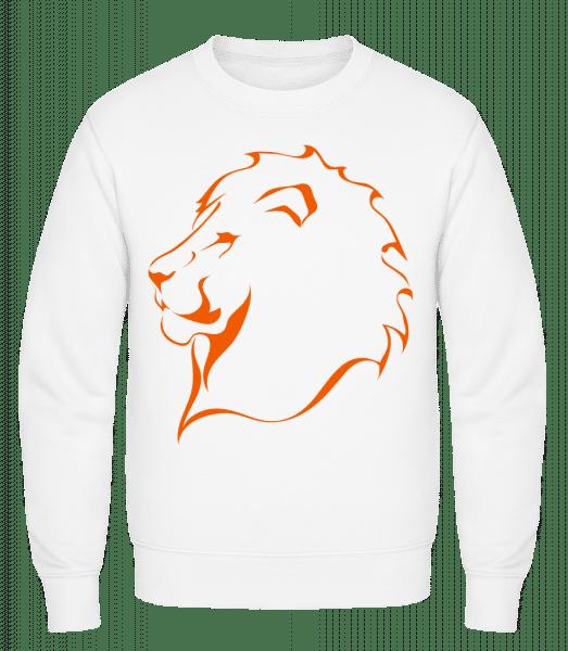 Lion - Classic Set-In Sweatshirt - White - Vorn