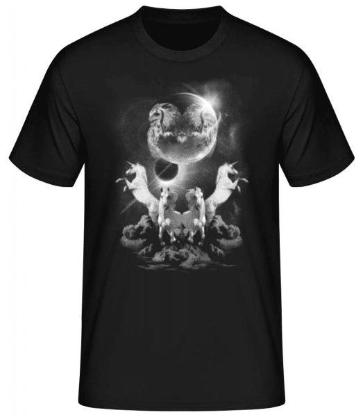 Mystic Unicorn Night - Men's Basic T-Shirt - Black - Front