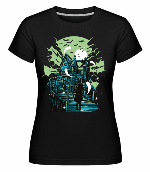 Haunted House -  Shirtinator Women's T-Shirt - Black - Vorn