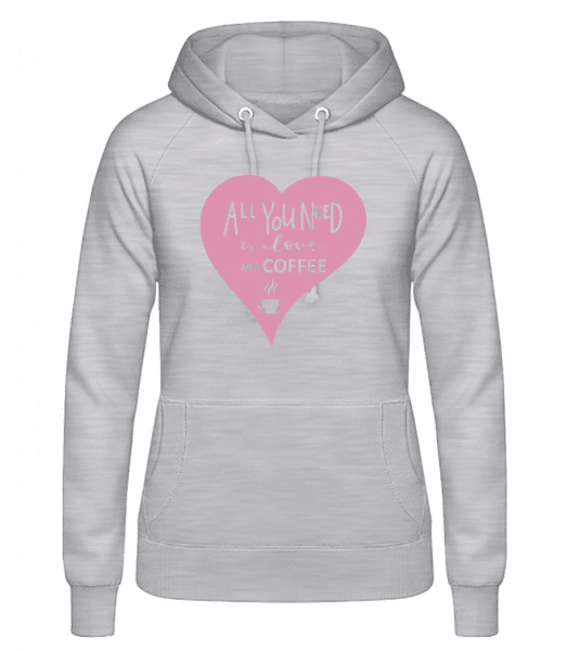 Love And Coffee - Women's Hoodie - Heather grey - Front