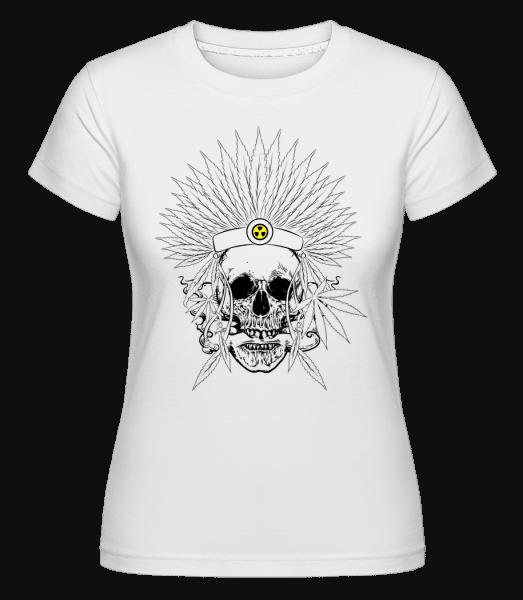 Skull Tattoo -  Shirtinator Women's T-Shirt - White - Vorn