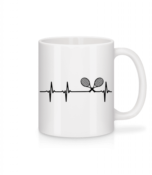 Heartbeat Tennis - Mug - White - Vorn