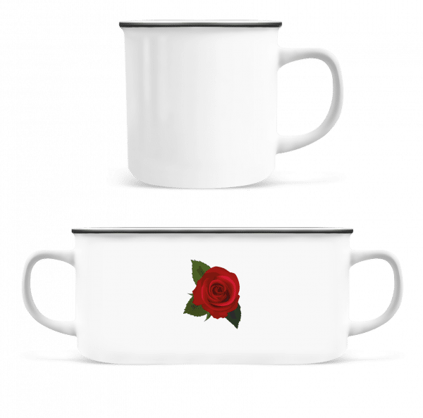 Rose Red - Enamel-cup - White - Vorn