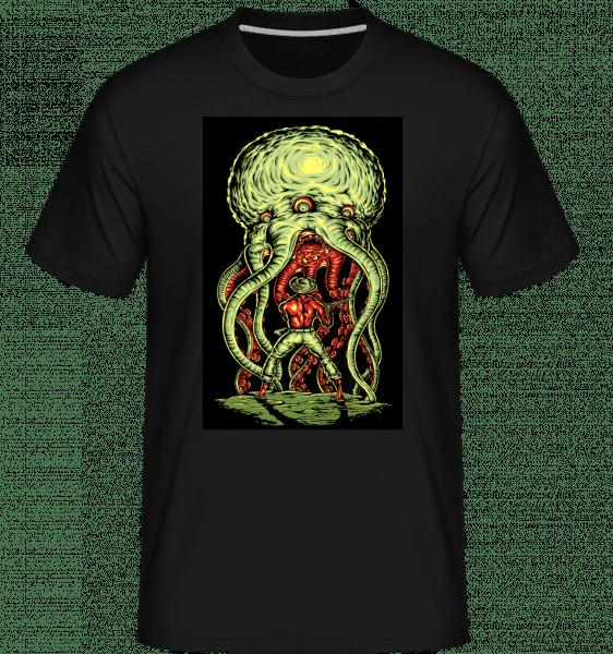 Alien Attack -  Shirtinator Men's T-Shirt - Black - Front