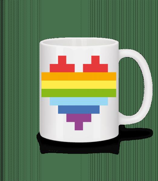 Rainbow Heart - Tasse - Weiß - Vorn