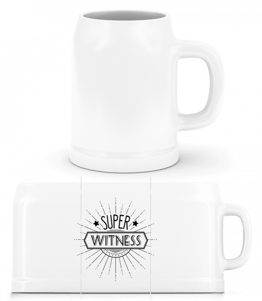 Super Witness - Beer Mug - White - Vorn