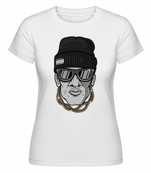 Hip Hop Man -  Shirtinator Women's T-Shirt - White - Vorn