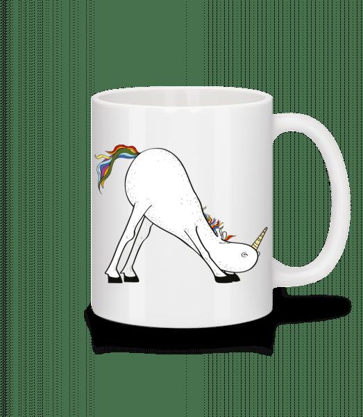 Yoga Unicorn The Slide - Mug - White - Vorn