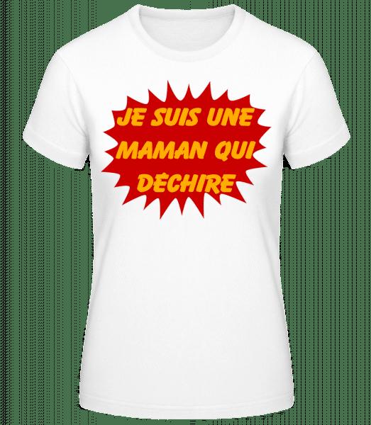 Une Maman Qui Déchire - T-shirt standard Femme - Blanc - Vorn