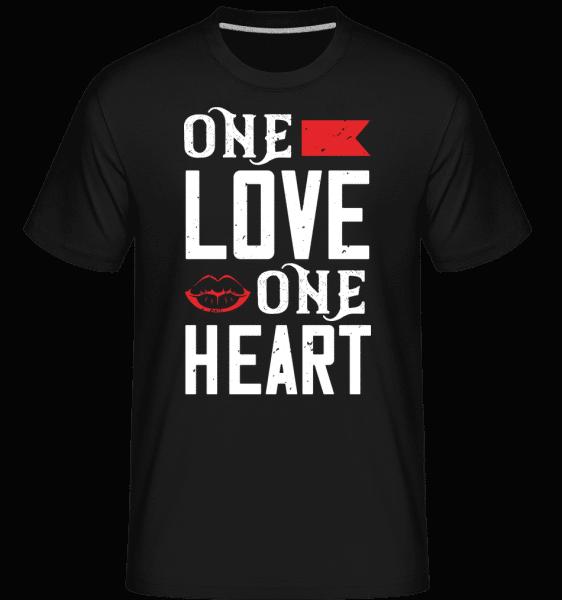 One Love One Heart -  Shirtinator Men's T-Shirt - Black - Front
