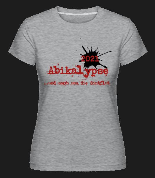 Abikalypse - Shirtinator Frauen T-Shirt - Grau meliert - Vorn