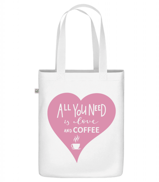 "Love And Coffee - Organic ""Earth Positive"" tote bag - White - Front"