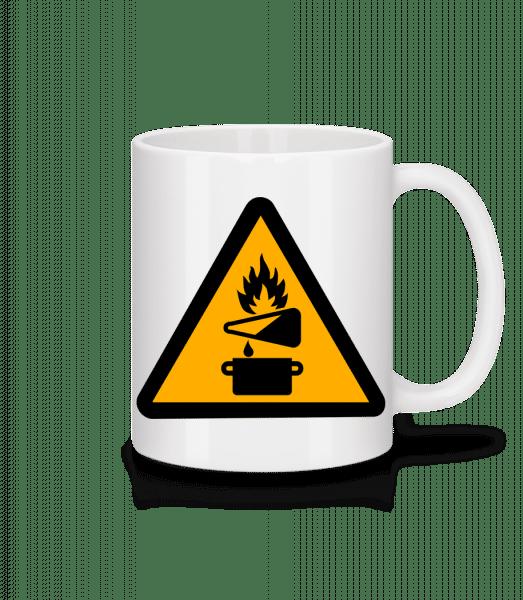Attention Fire Hazard - Mug - White - Vorn