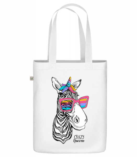 "Crazy Unicorn - Organic ""Earth Positive"" tote bag - White - Vorn"