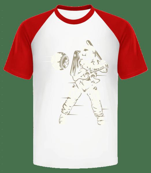 Space Baseball - Men's Baseball T-Shirt - White - Vorn