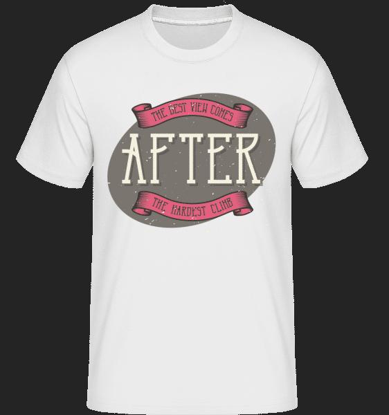 After The Hardest Climb -  Shirtinator tričko pro pány - Bílá - Napřed