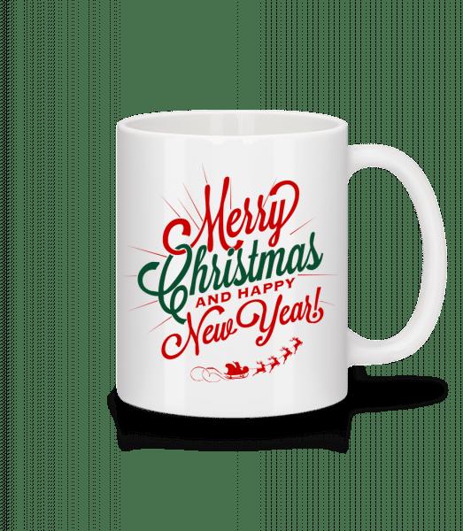 Merry Christmas Label - Tasse - Weiß - Vorn
