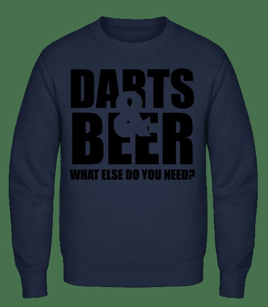 Darts And Beer - Classic Set-In Sweatshirt - Navy - Vorn