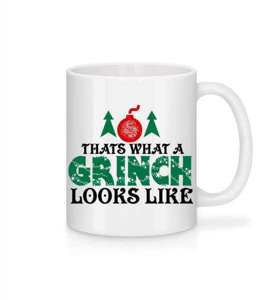 What A Grinch Looks Like - Tasse - Weiß - Vorn