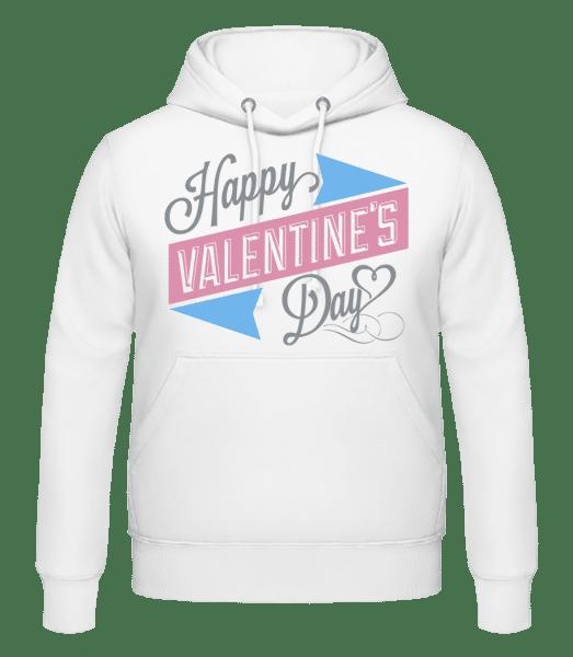Happy Valentine's Day - Men's Hoodie - White - Vorn