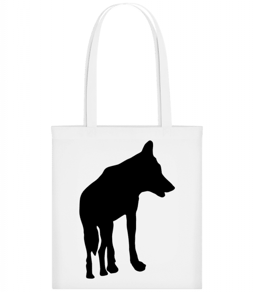 Silhouette Wolf - Carrier Bag - White - Vorn
