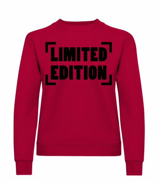 Limited Edition Logo - Classic Ladies' Set-In Sweatshirt - Red - Vorn