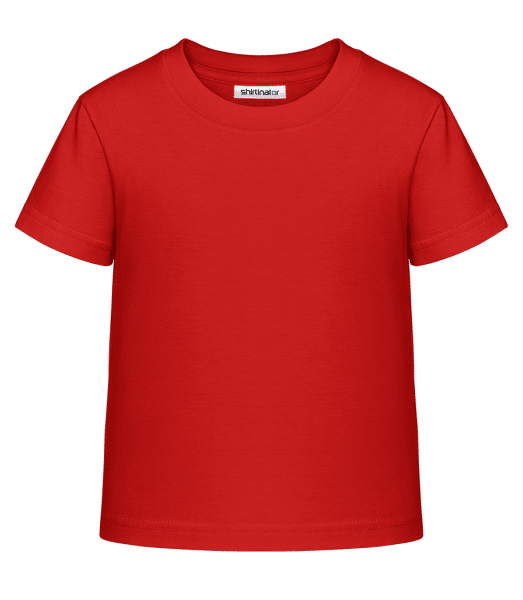 Kinder Shirtinator Basic T-Shirt - Rot - Vorn